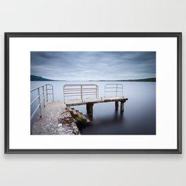 Fermanagh Lough Melvin Pier Framed Art Print