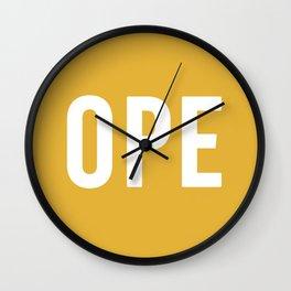 OPE Mustard Wall Clock