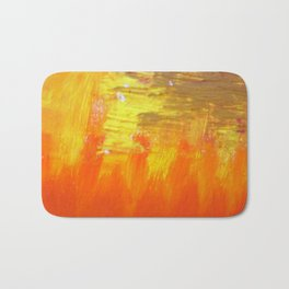Aflood with gold and rose Bath Mat