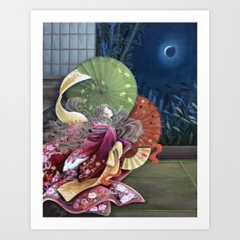 Moon Gazing Art Print