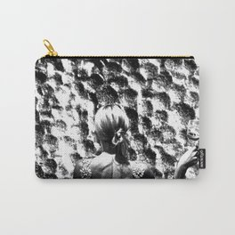 woman drinking a glass of wine on the moon Carry-All Pouch