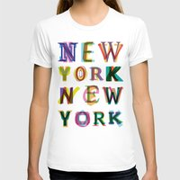 new york T-shirts featuring New York New York by Fimbis