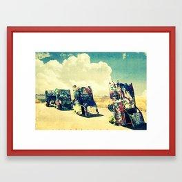 CADILLAC RANCH  revisited Framed Art Print