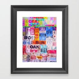 text travel Framed Art Print