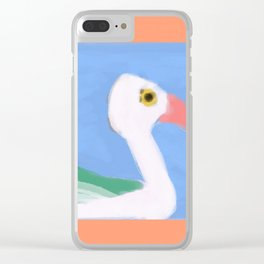 Swan on a Lake Clear iPhone Case