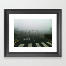 One way. Framed Art Print