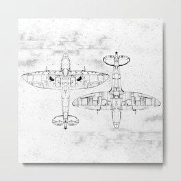 Spitfire Mk. XIV (Light) Metal Print
