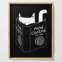 Mind Control 4 Cats Serving Tray
