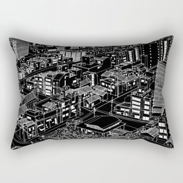Asakusa, Japan in BW Rectangular Pillow
