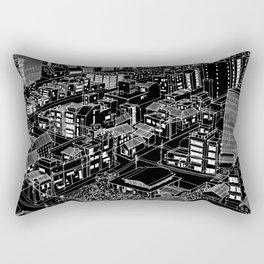 Asakusa, Japan in BW Rectangular Pillow
