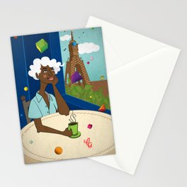 Coffee in the Boulevard Stationery Cards
