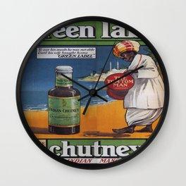 Vintage poster - Green Label Indian Mango Chutney Wall Clock