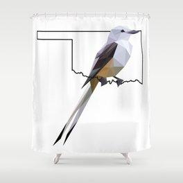 Oklahoma – Scissor-Tailed Flycatcher Shower Curtain
