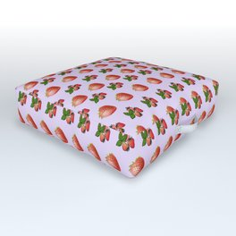 Cool strawberries Outdoor Floor Cushion