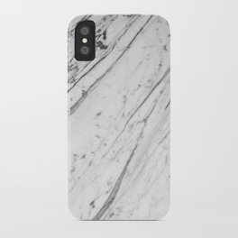 Classic White Marble #2 #decor #art #society6 iPhone Case