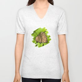 Old and New Leaf Abstract Art Unisex V-Neck