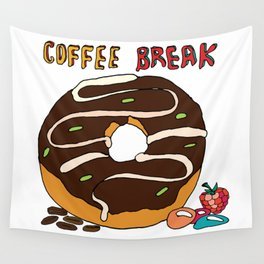 Delicious donut with chocolate and caramel. Wall Tapestry