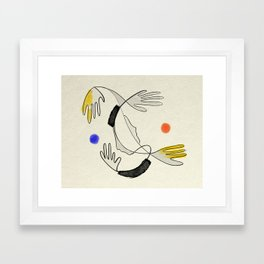 Embrace the air Framed Art Print