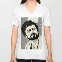 miles davis V-neck T-shirts featuring Llewyn Davis by Jeroen van de Ruit