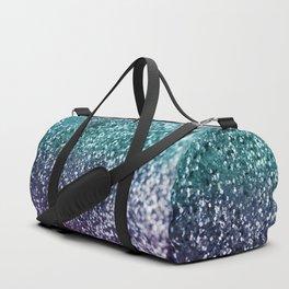 Aqua Purple Ombre Glitter #1 #decor #art #society6 Duffle Bag