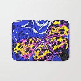 The Butterfly Affect #2 Blue Mosaic Bath Mat