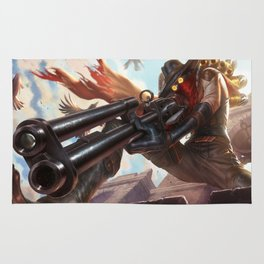 High Noon Jhin League Of Legends Rug