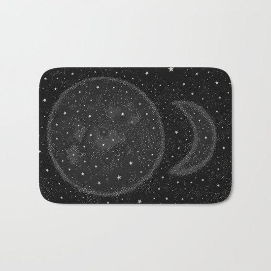 Starry Boho Moons Bath Mat