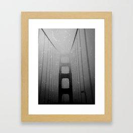 Dark Golden Gate Framed Art Print