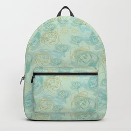 Romantic Antique Rose Pastel Love Backpack