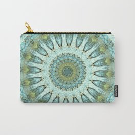 Peacock Feather Mandala Carry-All Pouch