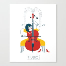 Cellist Canvas Print