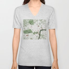 London city map minimal Unisex V-Neck