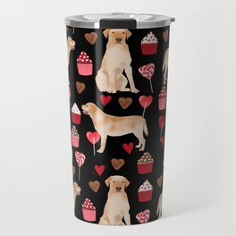 Yellow Lab valentines day hearts cupcakes cute labrador retriever Travel Mug