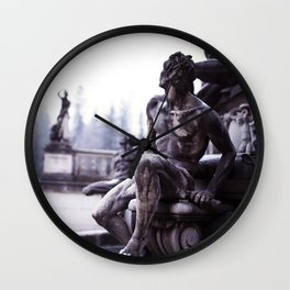 Nordic print, black white, wall art, sculpture, statues, abstract print, Eternity Wall Clock