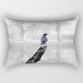 Crow On Misty Pond A114 Rectangular Pillow