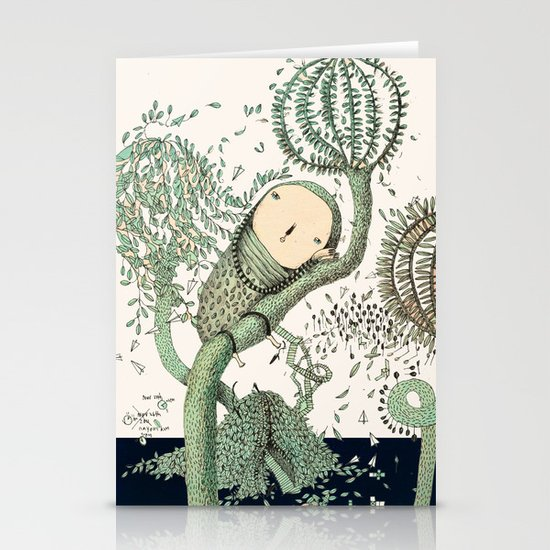 My Green Memory Stationery Cards