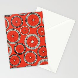 bike wheels fire Stationery Cards