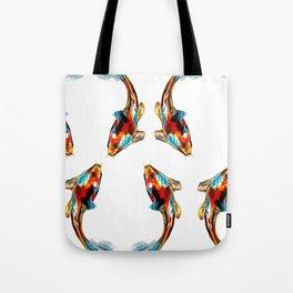 Koi Fish Japanese Illustration Tote Bag