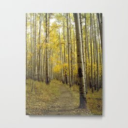 Beaconing Trail of Gold Metal Print