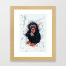 Chimpanzee Art Framed Art Print