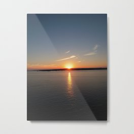 NEWPORT SUNSET Metal Print