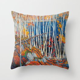 In The Northland (Group Of Seven) by Tom Thomson Canadian Landscape Art Throw Pillow