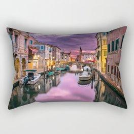 Venice Italy Canal at Sunset Photograph Rectangular Pillow