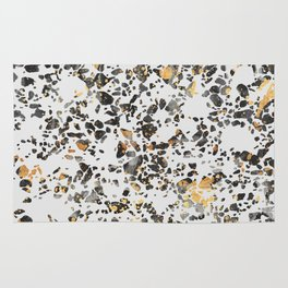 Gold Speckled Terrazzo Rug