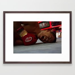 Down but Not Out Framed Art Print