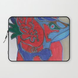 Red horse abstract modern paitings by Christian T. Laptop Sleeve