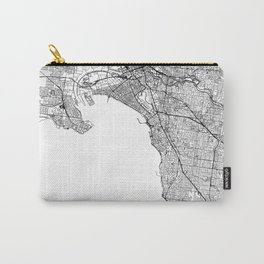 Melbourne White Map Carry-All Pouch