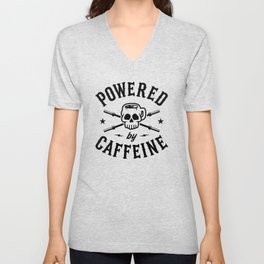 Powered By Caffeine Unisex V-Neck