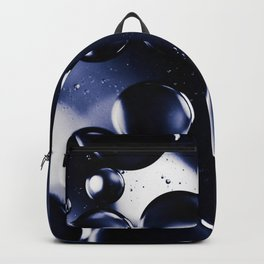 deep purple blue tones macro water droplets Backpack