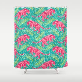 Pink Panther Jungle Scape Shower Curtain